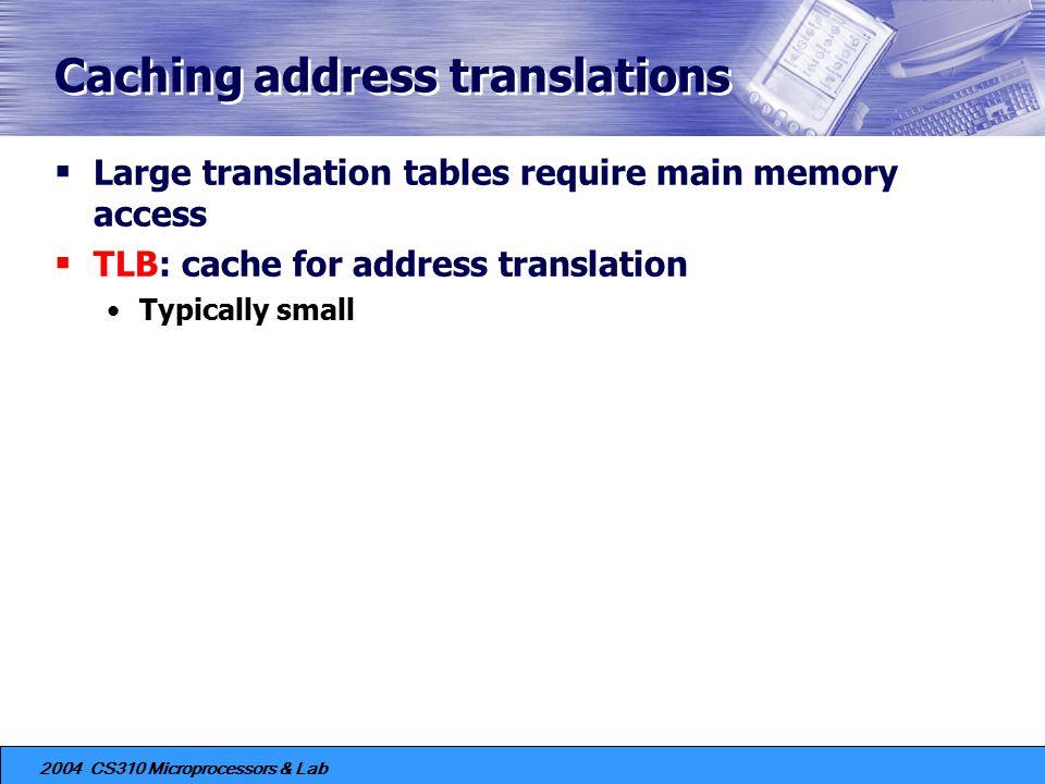 Caching address translations