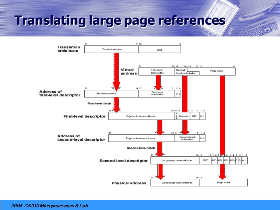 Translating large page references