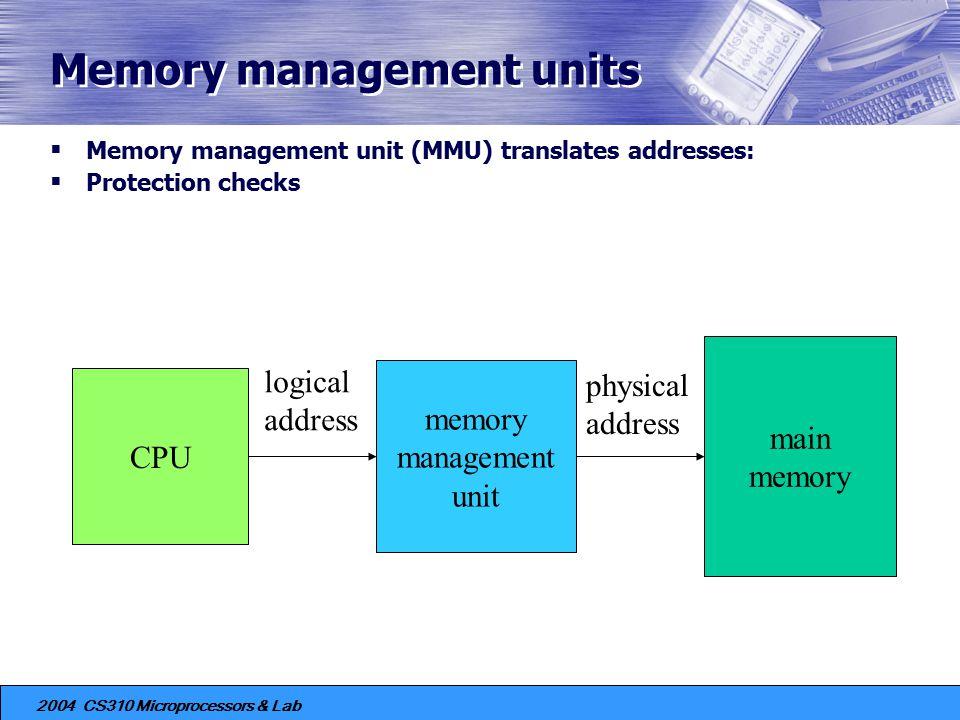 Memory management units