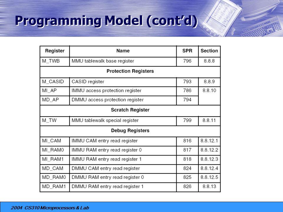 Programming Model (cont'd)