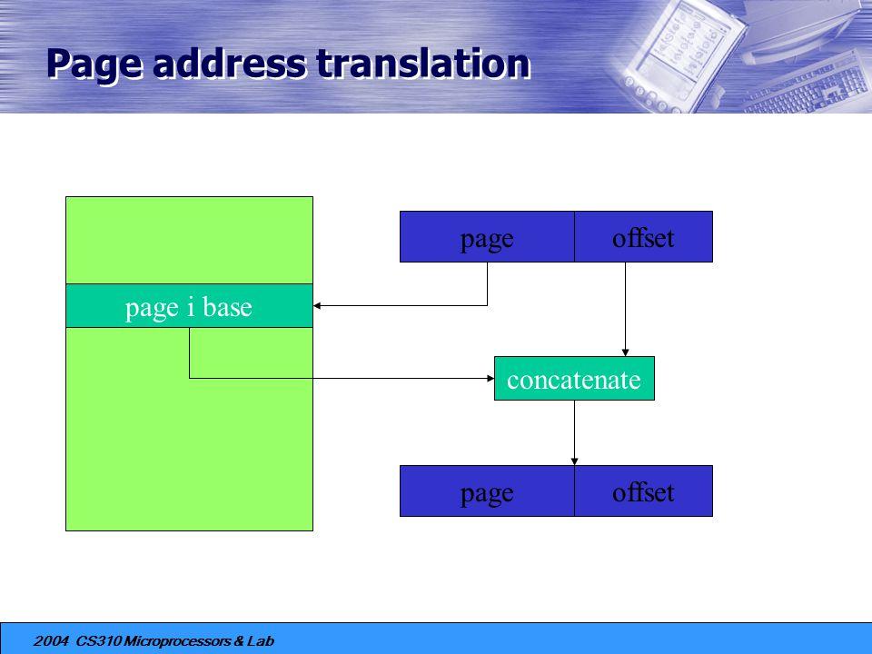 Page address translation