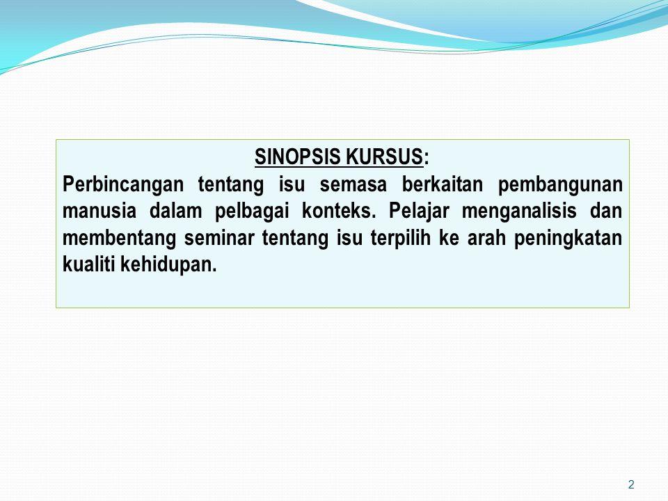 SINOPSIS KURSUS: