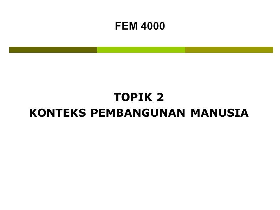 TOPIK 2 KONTEKS PEMBANGUNAN MANUSIA