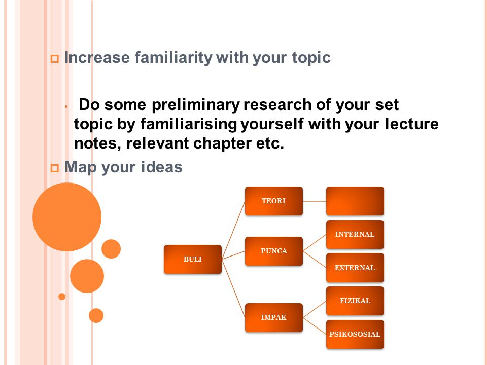 Increase familiarity with your topic
