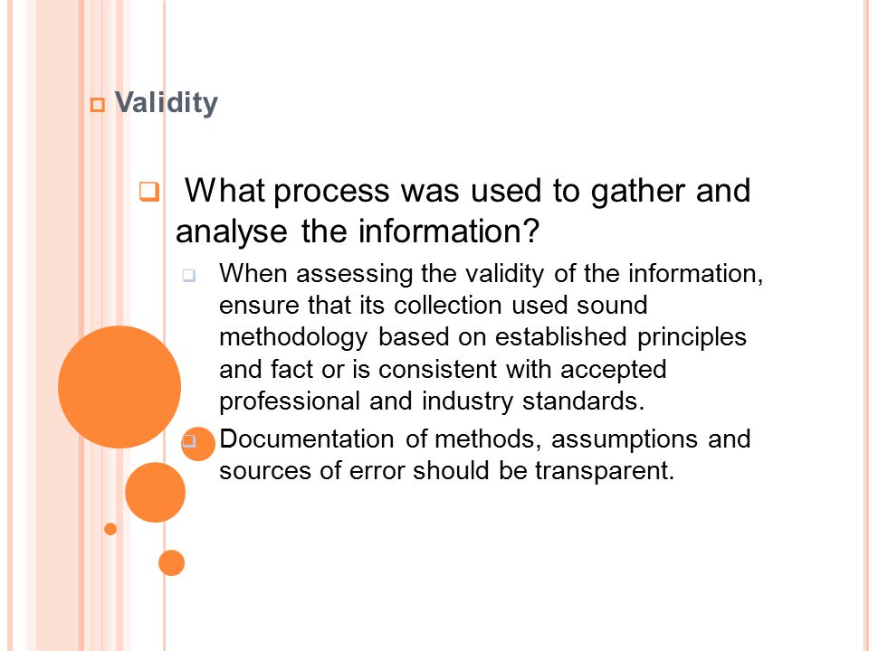 What process was used to gather and analyse the information