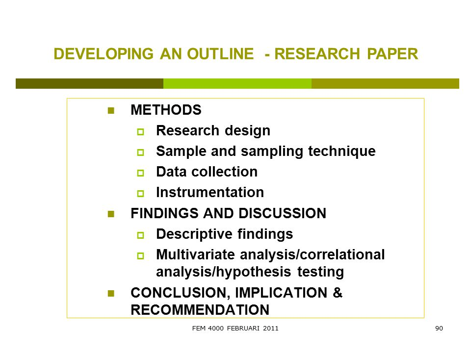 sample hypothesis in research paper