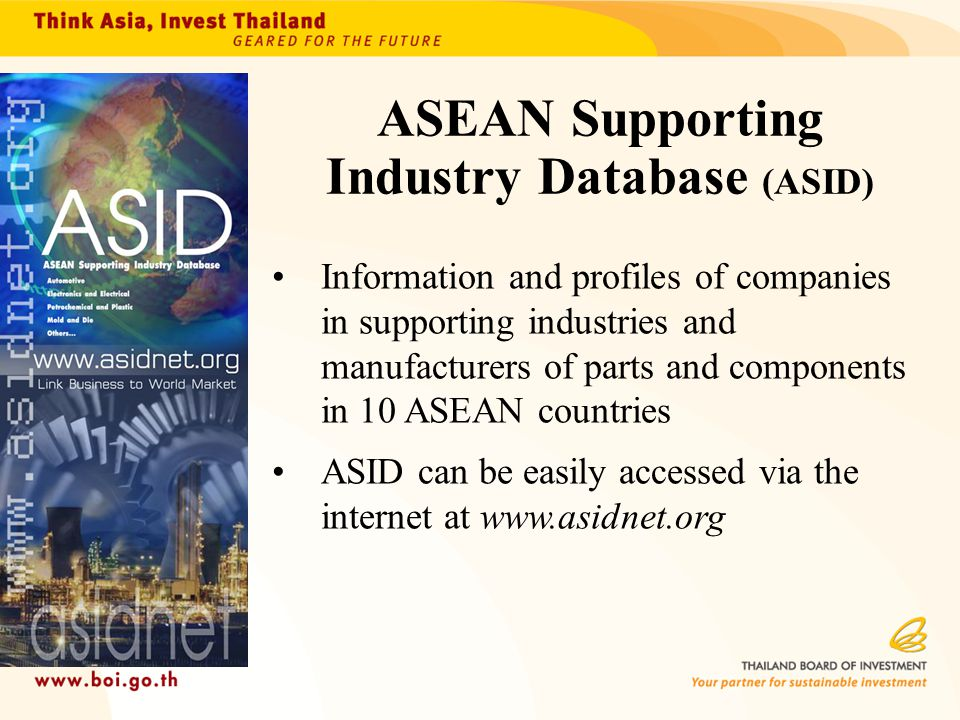 ASEAN Supporting Industry Database (ASID)
