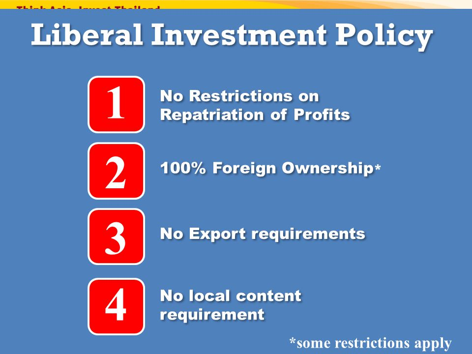 1 2 3 4 Liberal Investment Policy