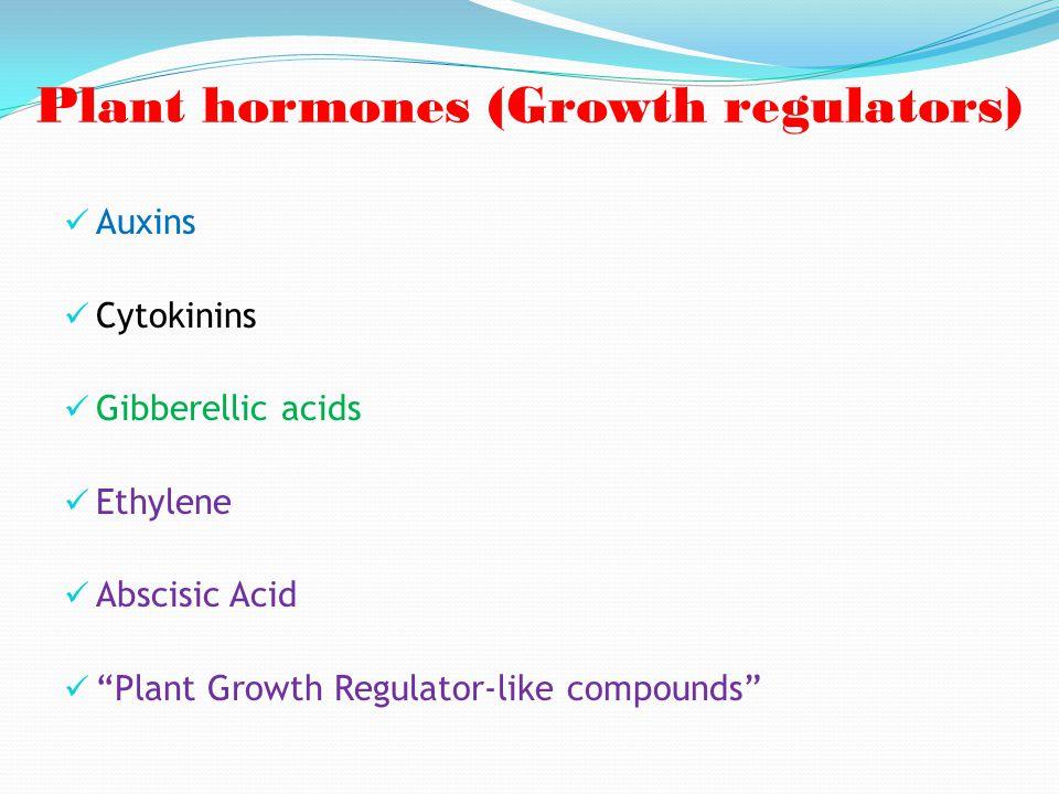 Plant hormones (Growth regulators)