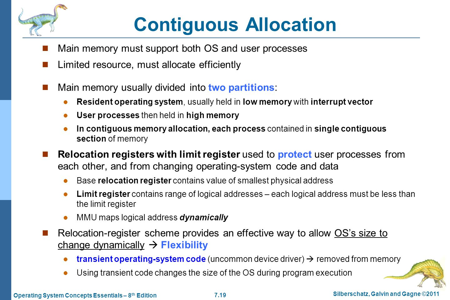 program for contiguous allocation essay Operating systems – a portable file system using contiguous allocation 1 practical experience with the problems of read more.