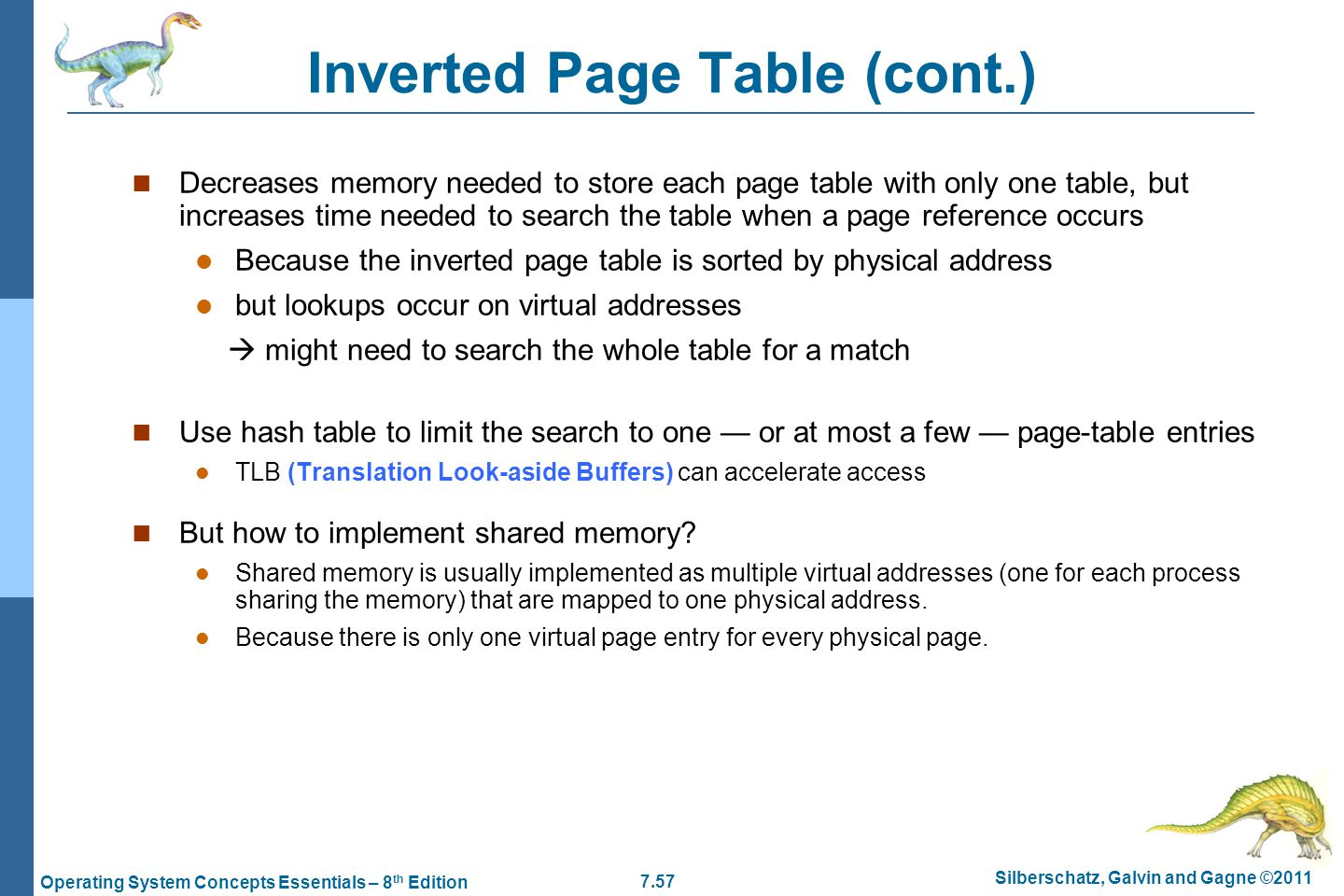 Inverted Page Table (cont.)