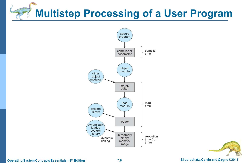 Multistep Processing of a User Program