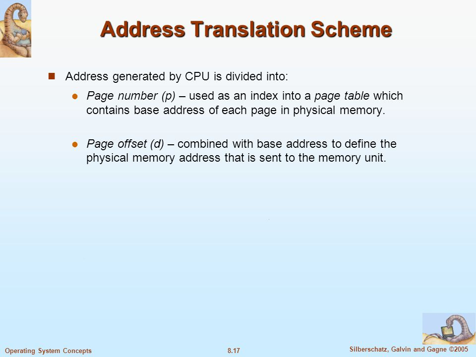 Address Translation Scheme