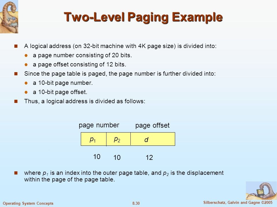 Two-Level Paging Example