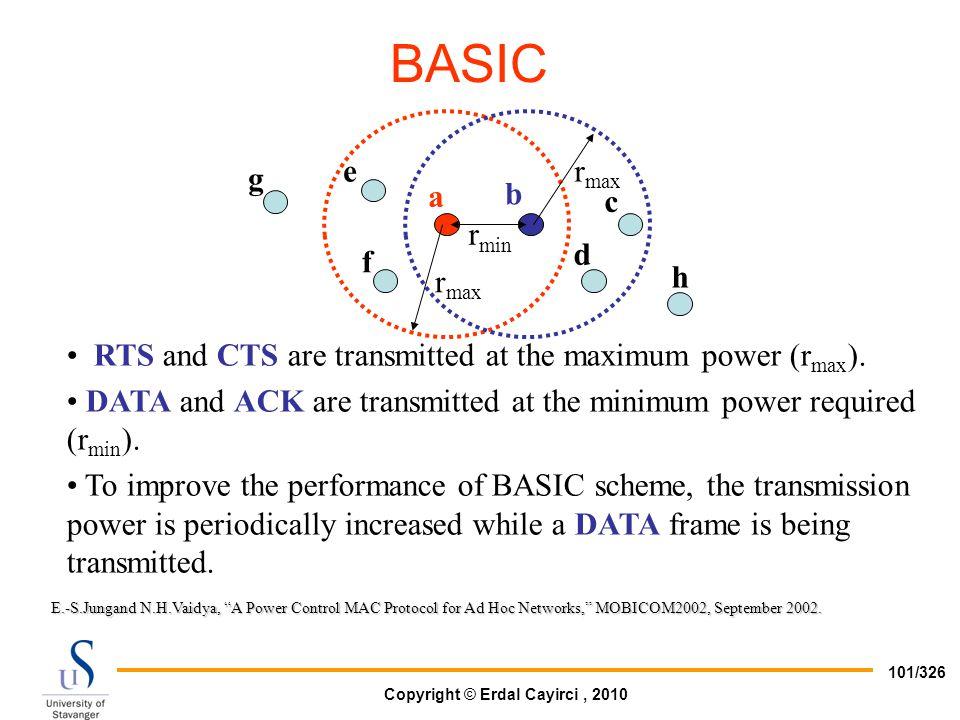 BASIC e g a b c rmin d f h rmax