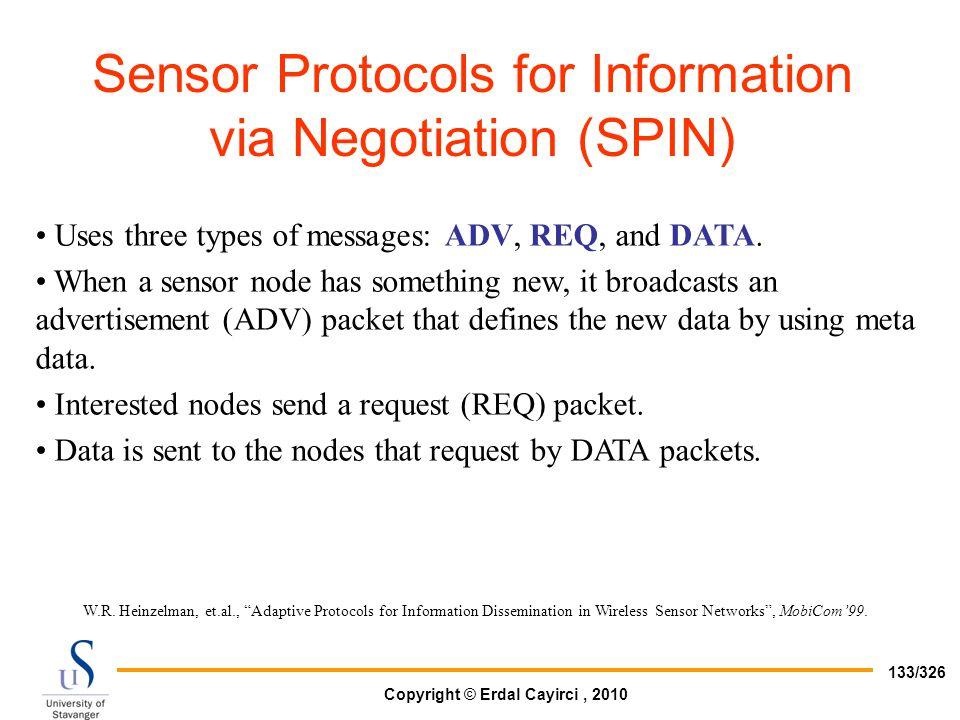 Sensor Protocols for Information via Negotiation (SPIN)