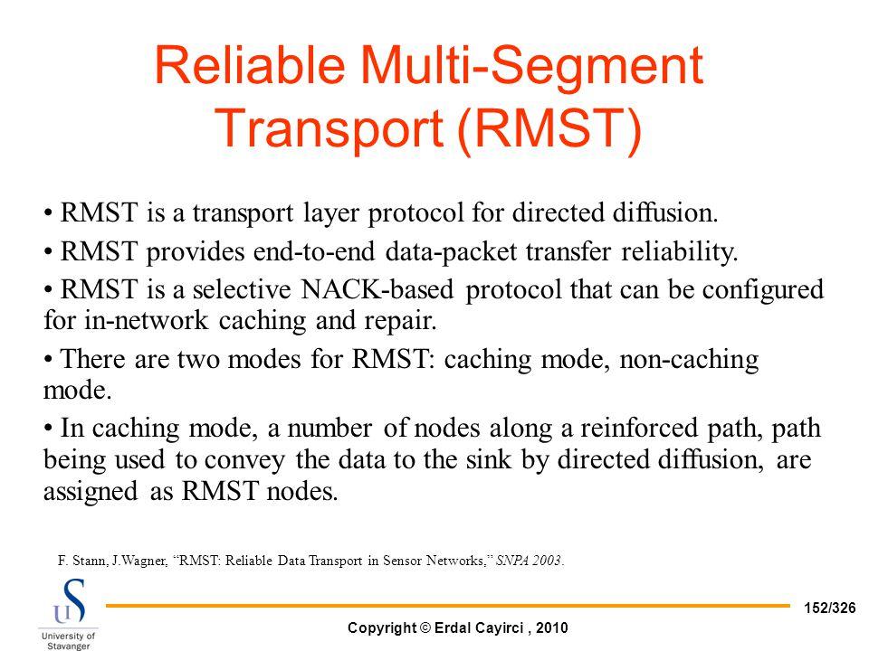 Reliable Multi-Segment Transport (RMST)