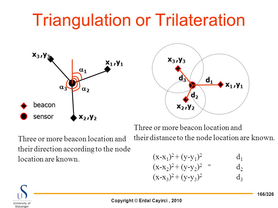 Triangulation or Trilateration
