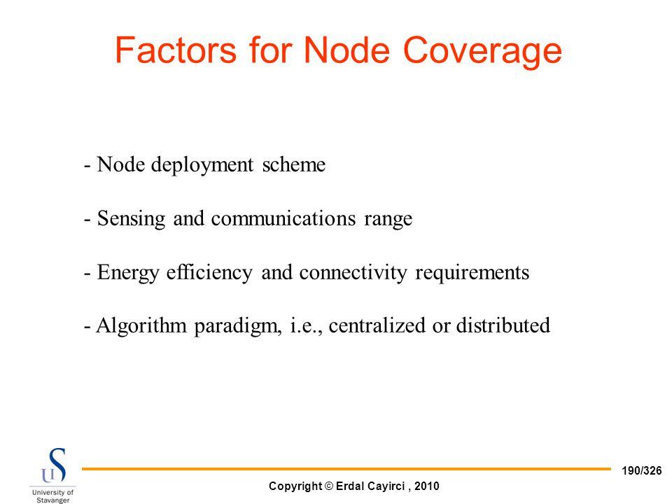 Factors for Node Coverage