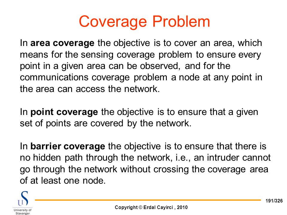 Coverage Problem