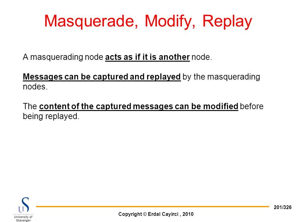 Masquerade, Modify, Replay