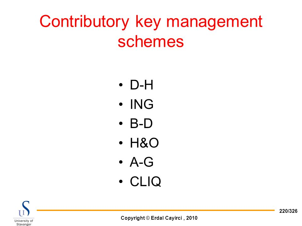 Contributory key management schemes
