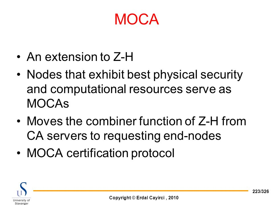 MOCA An extension to Z-H