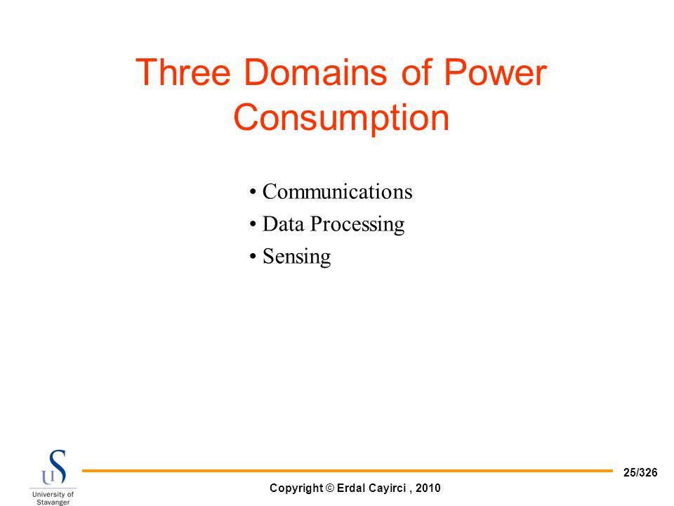 Three Domains of Power Consumption