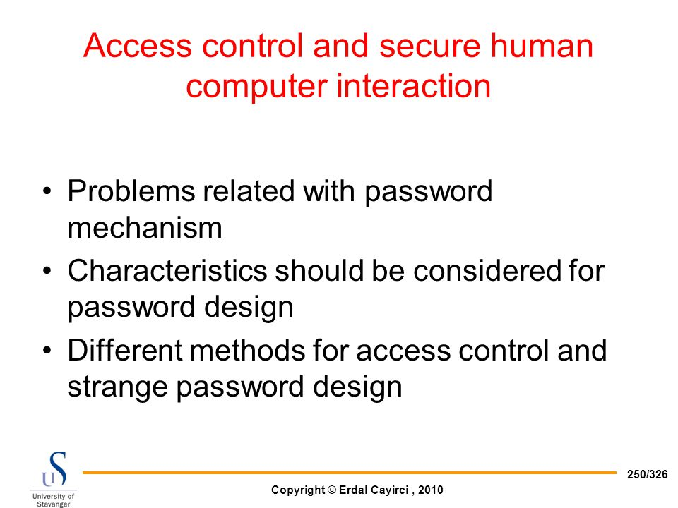 Access control and secure human computer interaction