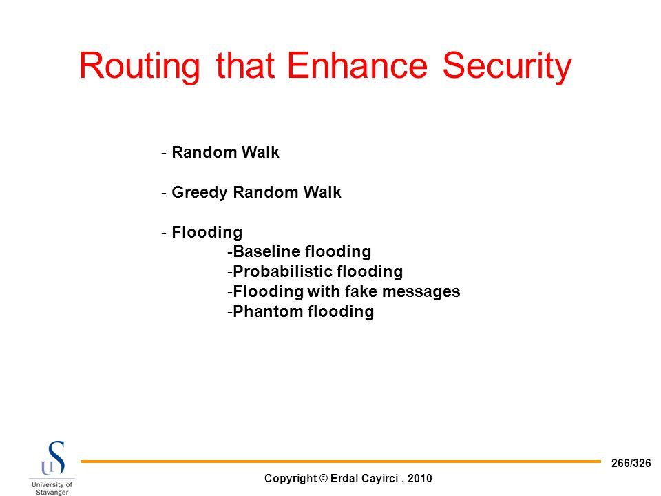 Routing that Enhance Security
