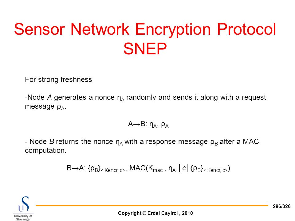 Sensor Network Encryption Protocol SNEP