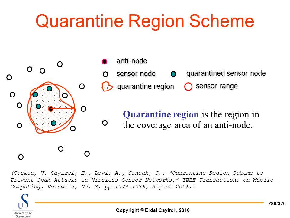 Quarantine Region Scheme