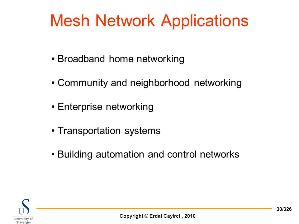 Mesh Network Applications