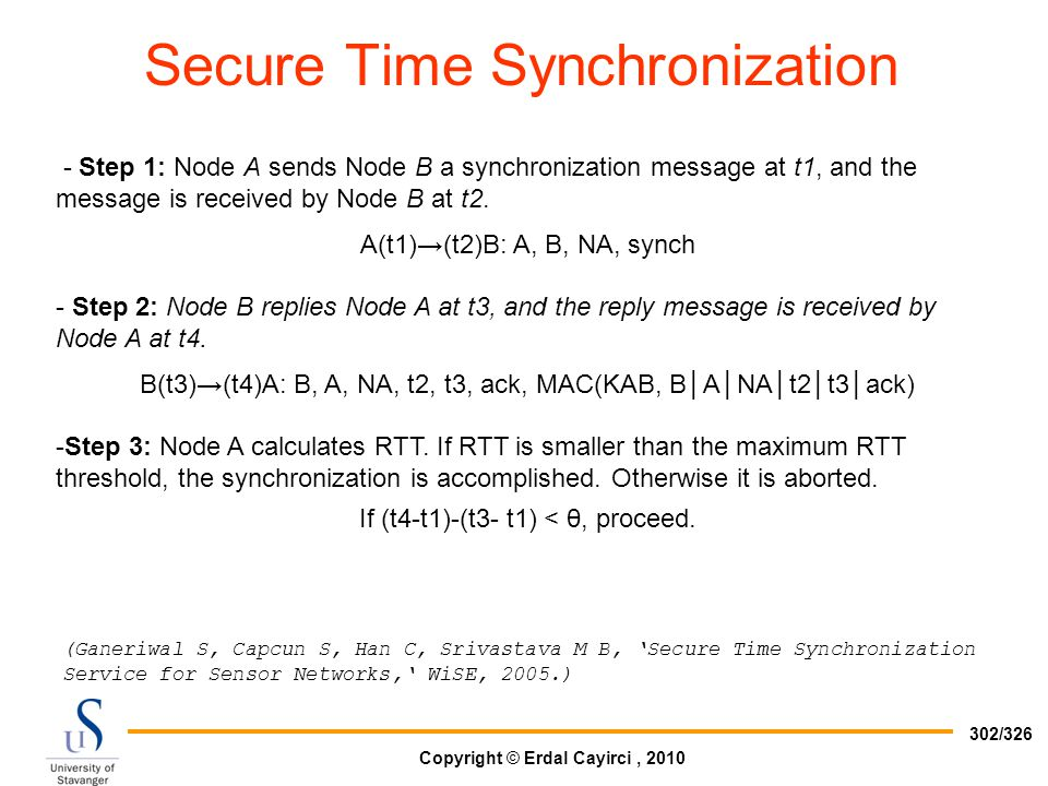 Secure Time Synchronization
