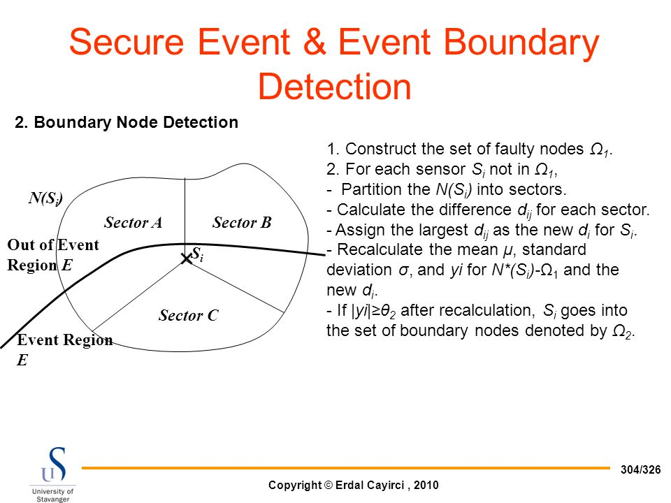 Secure Event & Event Boundary Detection
