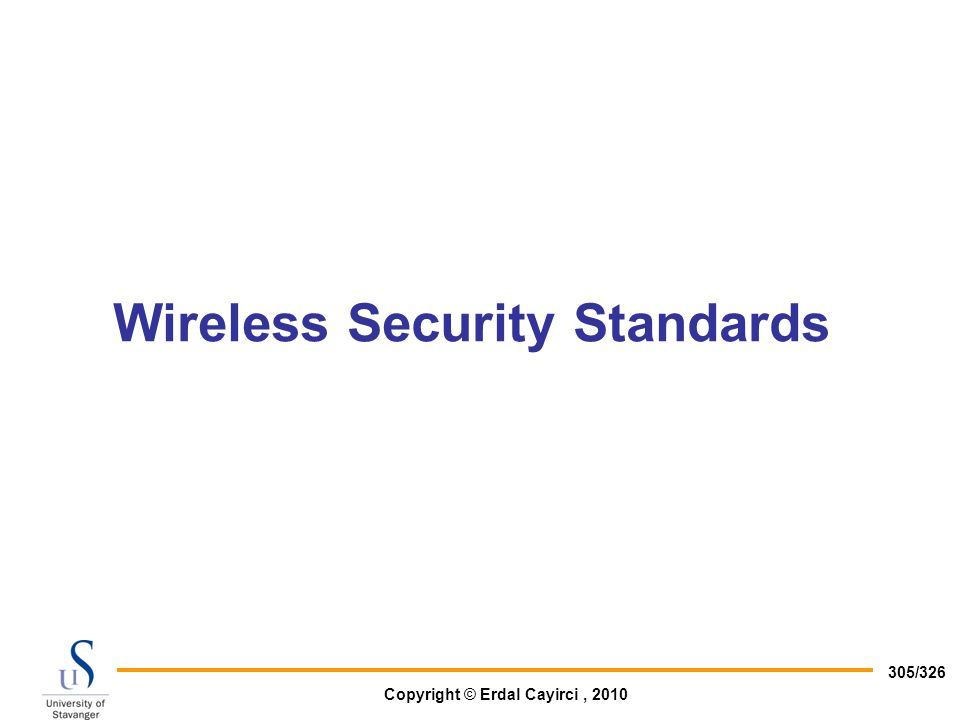 Wireless Security Standards