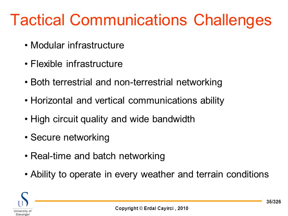 Tactical Communications Challenges
