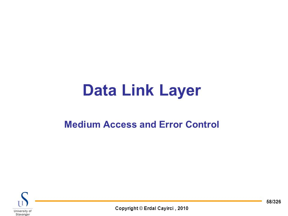 Data Link Layer Medium Access and Error Control