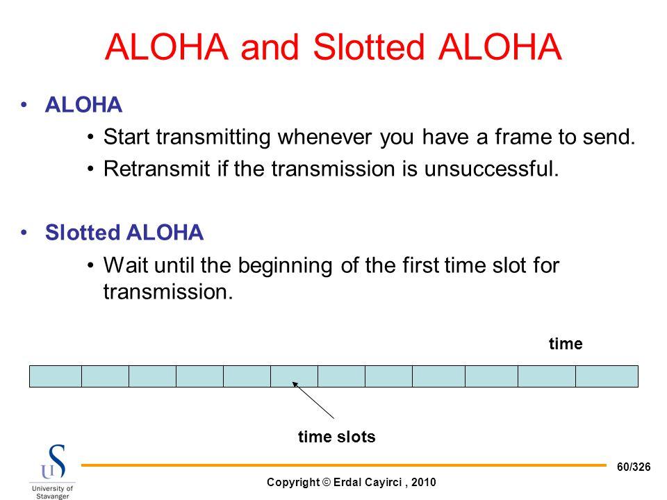 ALOHA and Slotted ALOHA