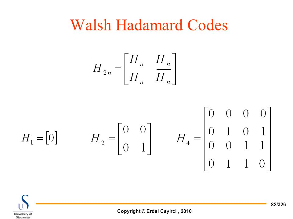 Walsh Hadamard Codes