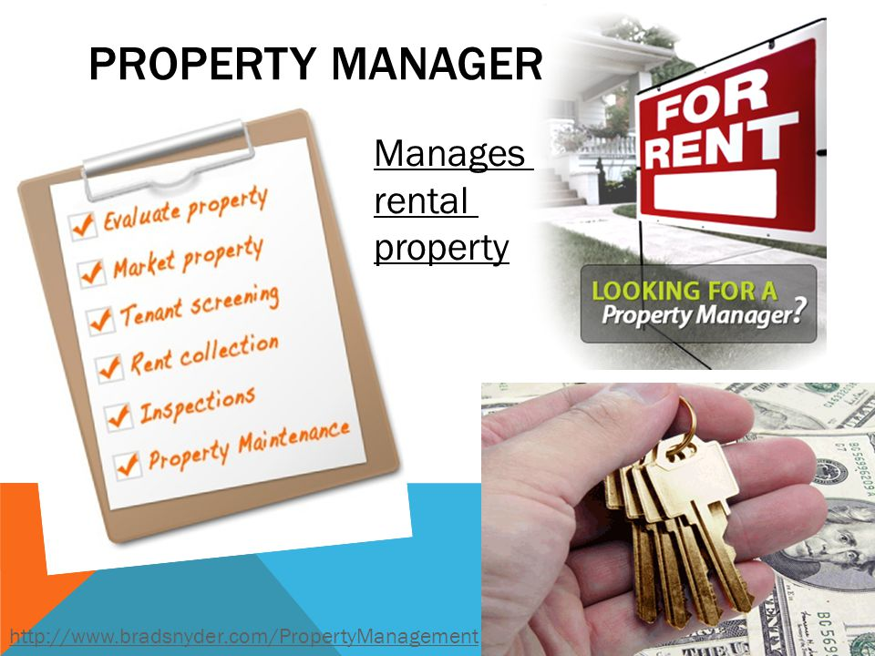 Property Manager Manages rental property