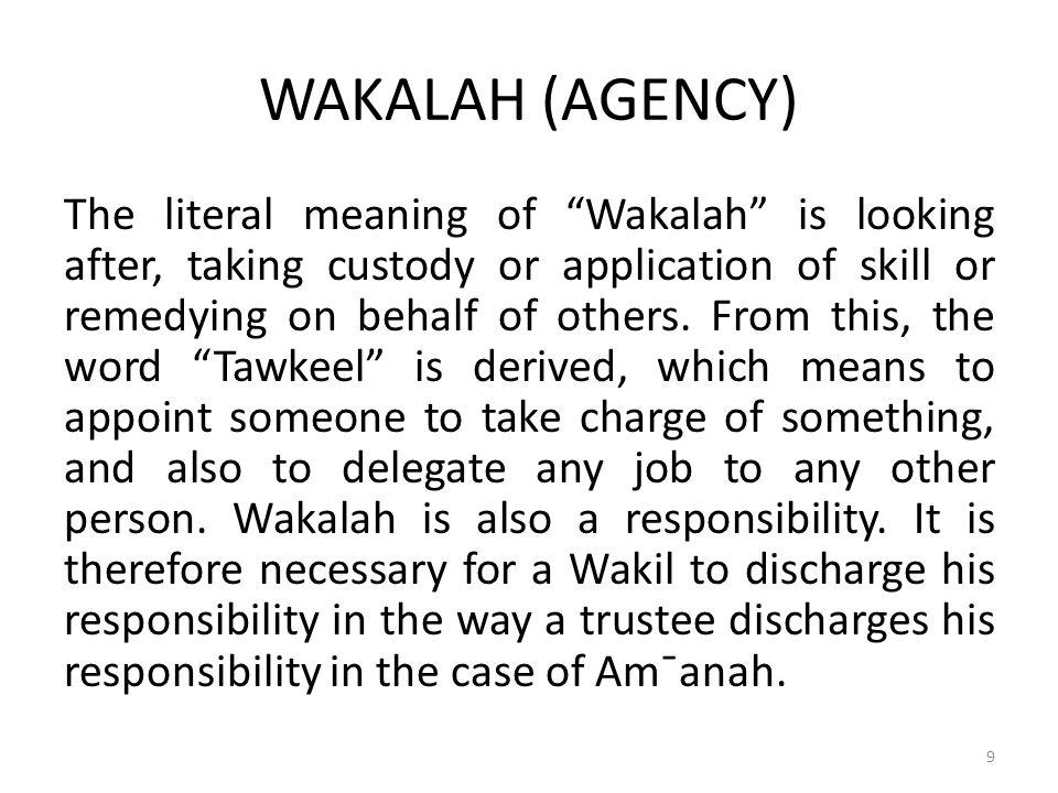 WAKALAH (AGENCY)