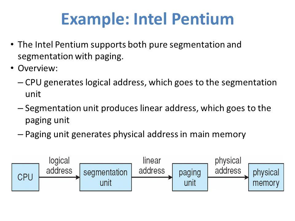 Example: Intel Pentium