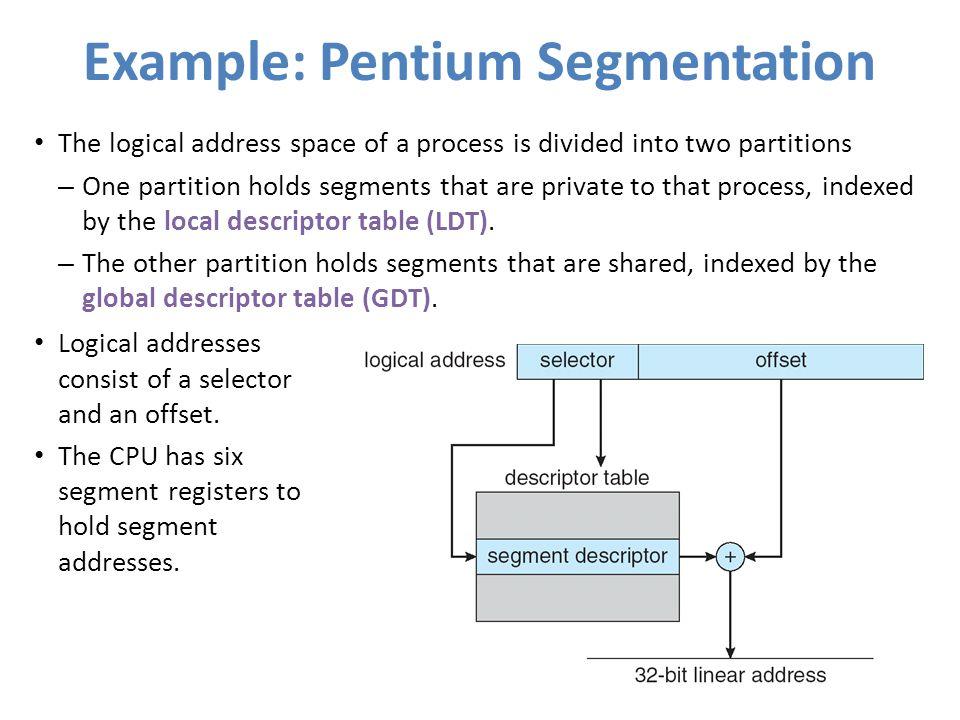Example: Pentium Segmentation