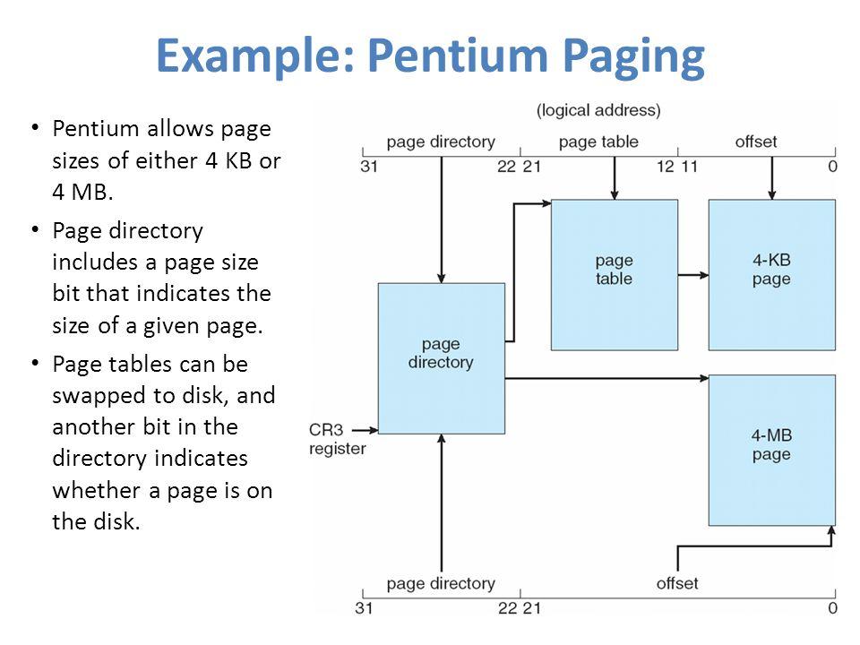 Example: Pentium Paging