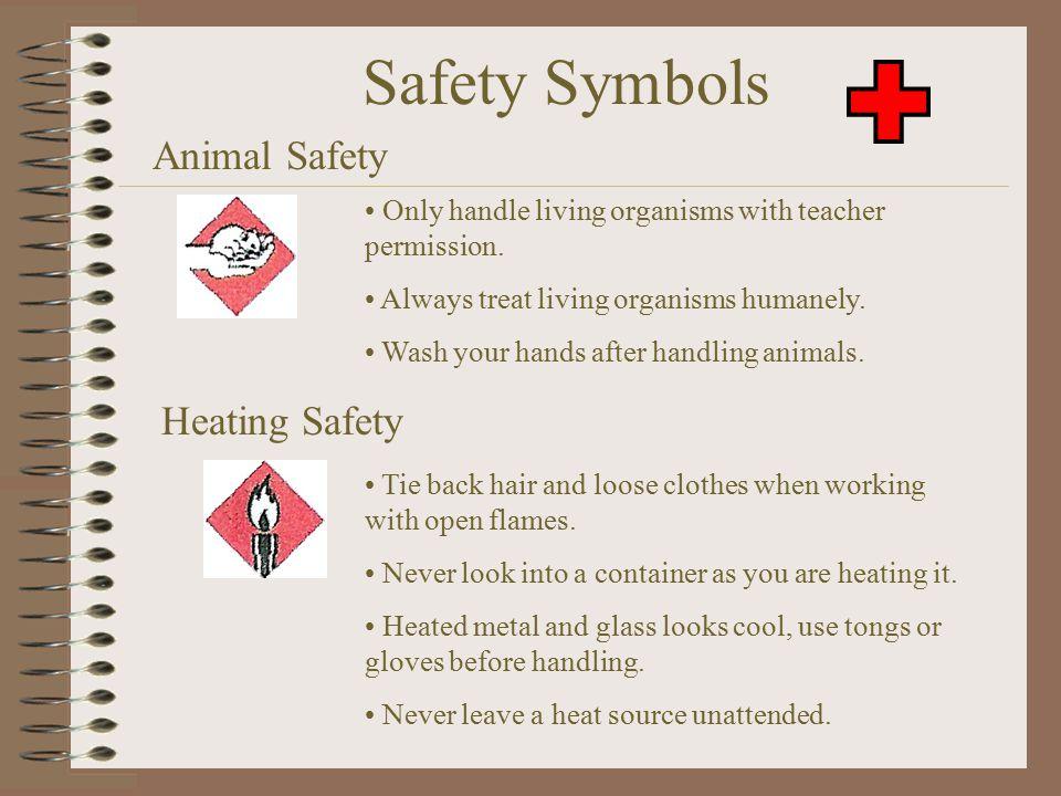 Safety Symbols Animal Safety Heating Safety