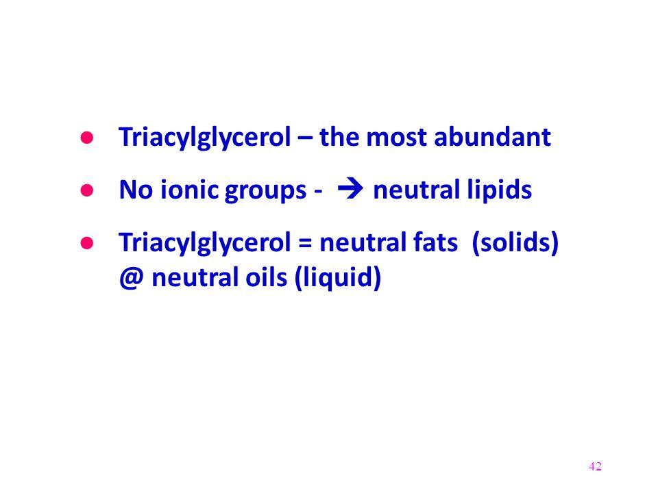 Triacylglycerol – the most abundant
