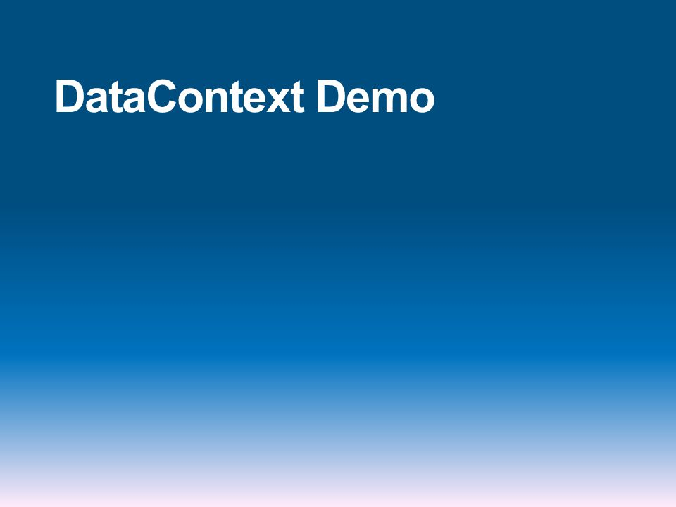 DataContext Demo
