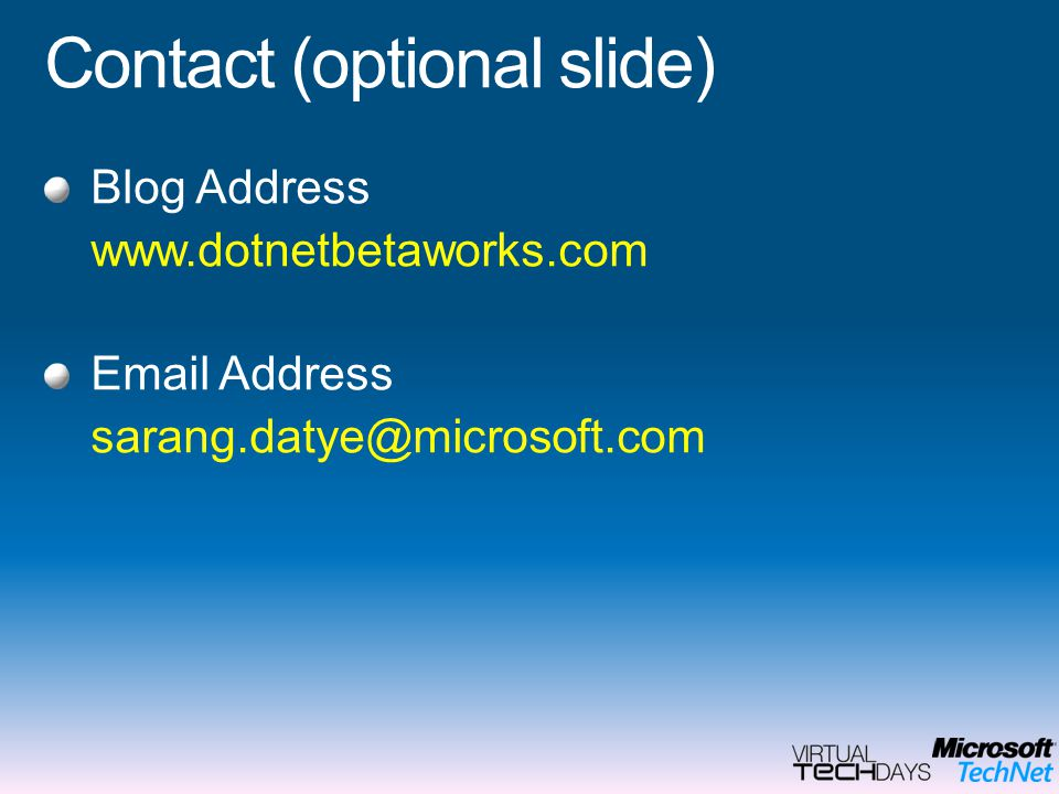Contact (optional slide)