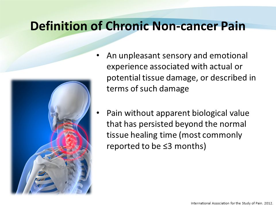 Definition of Chronic Non-cancer Pain